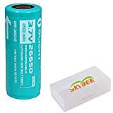 Bundle: Olight 26650 4500mah Protected Rechargeable Li-ion Battery For Olight R50 R40 Flashlight With Skyben Battery Box 4500mah Li Ion Battery