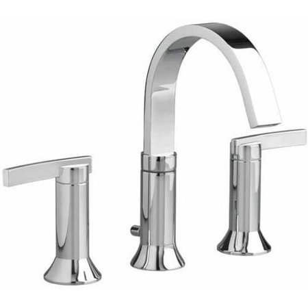 American Standard 7430.801.002 Berwick Widespread Lavatory Faucet with Metal Lever Handles and Metal Speed Connect Pop-Up Drain, Available in Various Colors