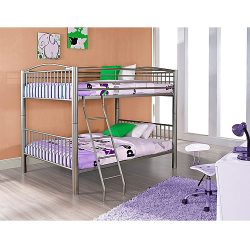 Heavy Metal Full Over Full Bunk Bed, Black by L. Powell Acquisition Corp.