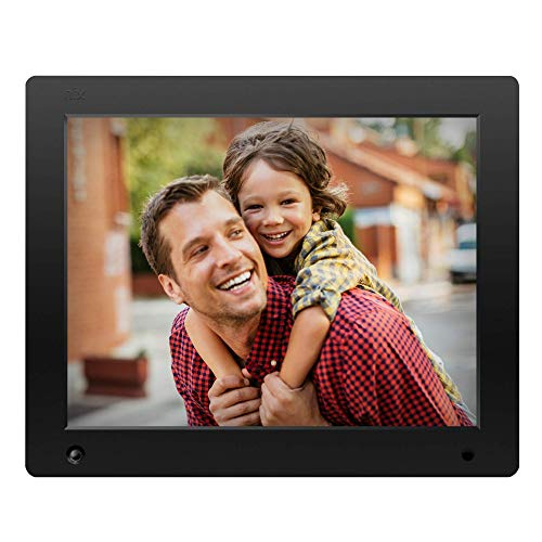 16: 9 Aspect Ratio Ring Bracket Wall Mountable MP3 MP4 Video Player Electronic Picture Frame USB and SD Card Simple Plug and Play with Remote Control Black 10.1 inch Digital Photo Frame 1024X600