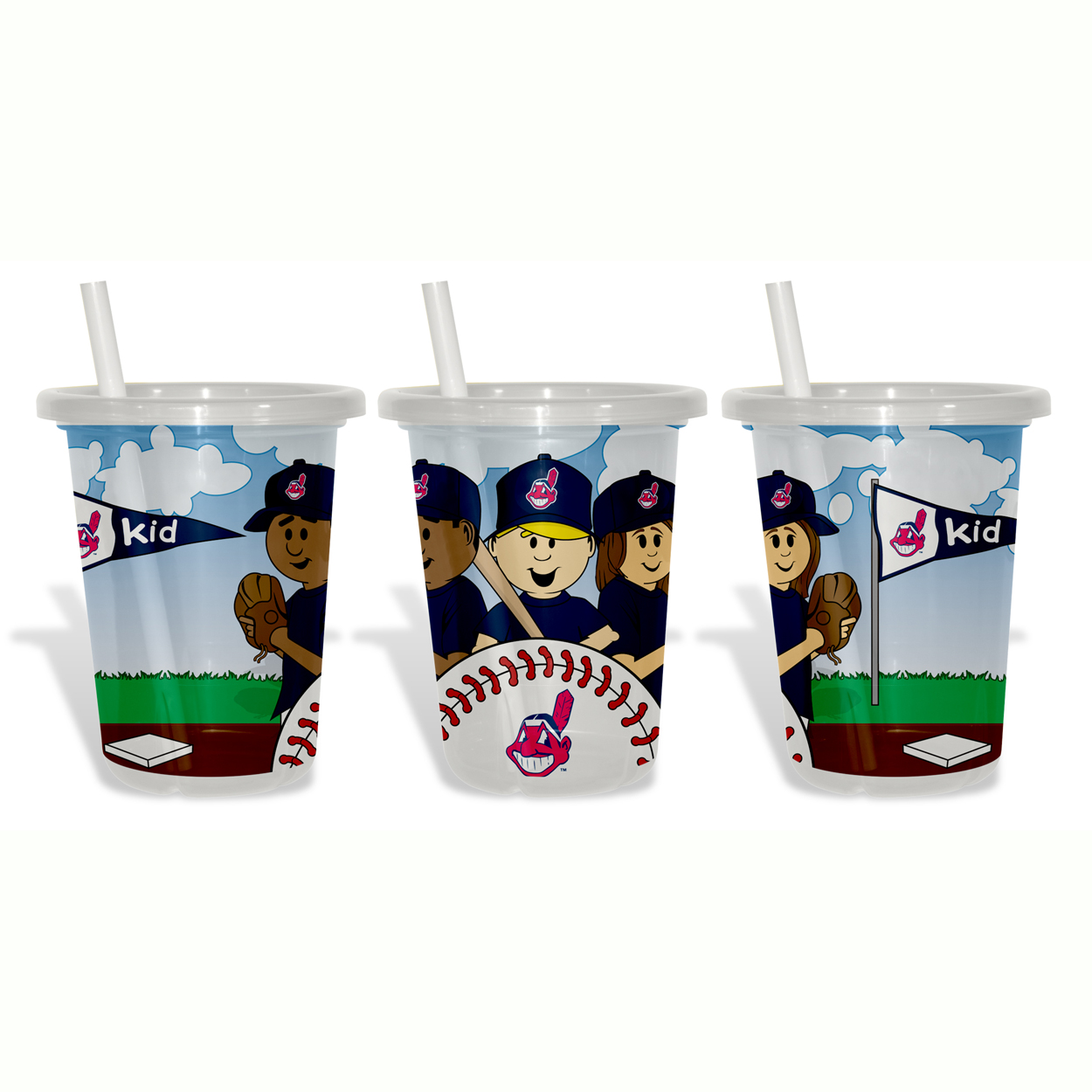 Baby Fanatic Sip N Go 3 Pack of Cups - Cleveland I