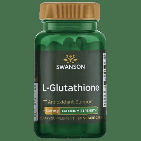Swanson L-Glutathione - Maximum Strength 500 mg 30 Veg Caps