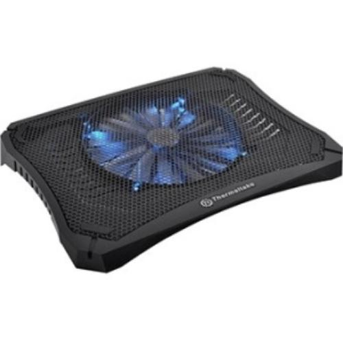 "Thermaltake Massive V20 Notebook Cooler - 800 Rpm - Plastic, Mesh - 1.7"" X 10.9"" X 14.4"" - Black (cl-n004-pl20bl-a)"