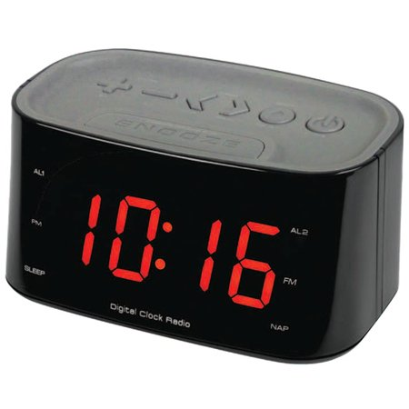 sylvania 1 2 bluetooth dual alarm clock radio. Black Bedroom Furniture Sets. Home Design Ideas