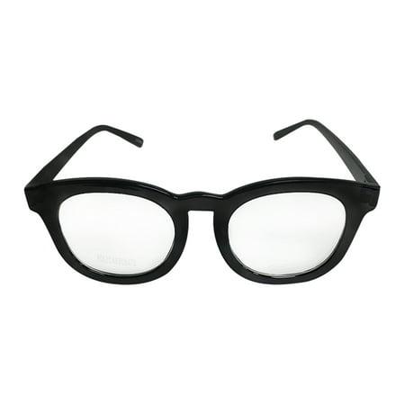 Black Rounded Frame Clear Glasses Johnny Depp Sunglasses Round (Johnny Depp Wearing Glasses)
