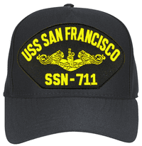 USS San Francisco SSN-711 ( Gold Dolphins ) Submarine Officer Cap