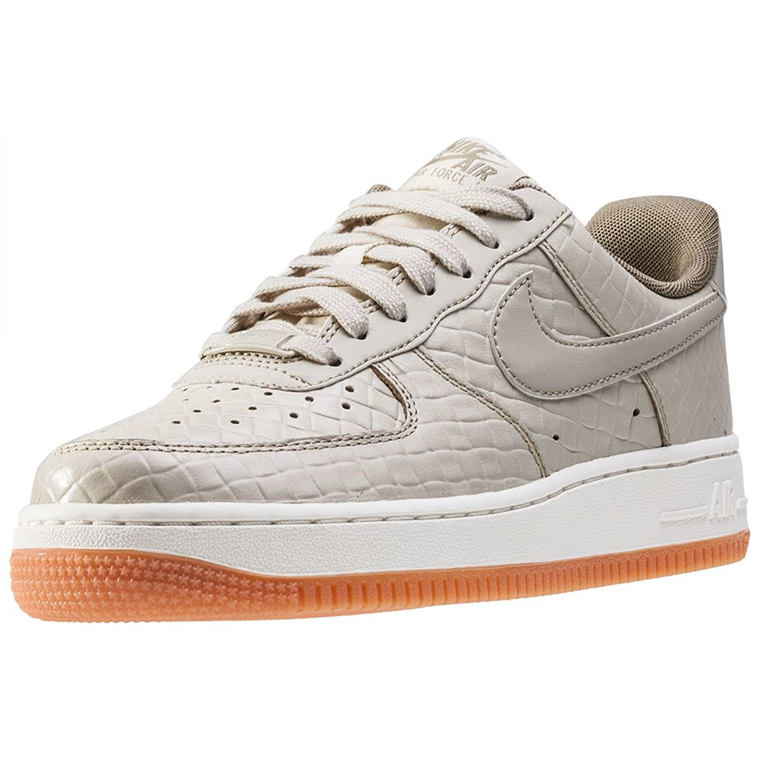 Nike Women's Air Force 1 '07 PRM Sneakers Shoes-Oatmeal/O...