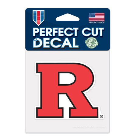 Rutgers Scarlet Knights Official NCAA 4 inch x 4 inch  Die Cut Car Decal by WinCraft