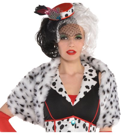 Cruella Deville Shrug (Cruella De Vil Shrug for Adults, 101 Dalmatians, Halloween Accessories, One)