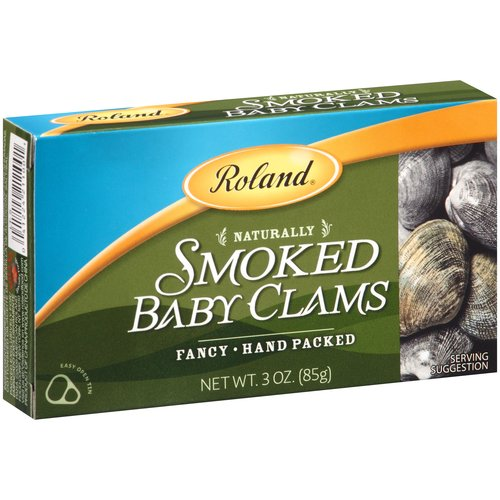 Roland Naturally Smoked Baby Clams, 3 oz