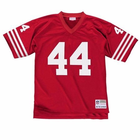 f90511f2794 Tom Rathman San Francisco 49ers NFL Mitchell   Ness Men s Red Official  Throwback Retro Jersey - Walmart.com