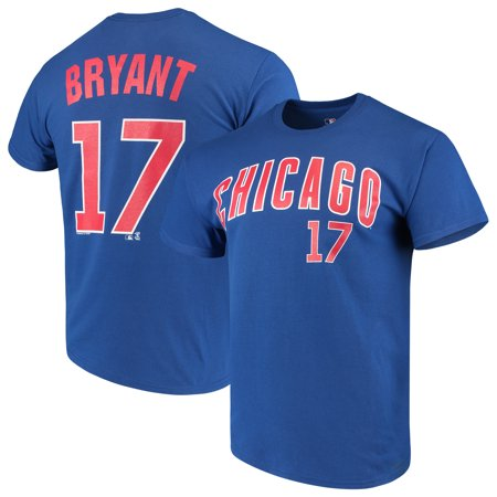 Men's Majestic Kris Bryant Royal Chicago Cubs Name & Number T-Shirt