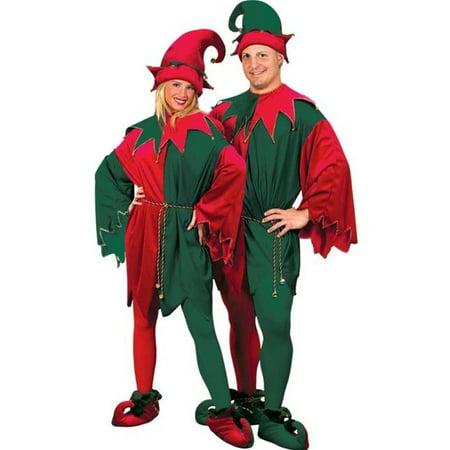 Morris Costumes FW7553 ELF SET VLVT HAT TUNC SHOES](Elf Shoes And Hat)