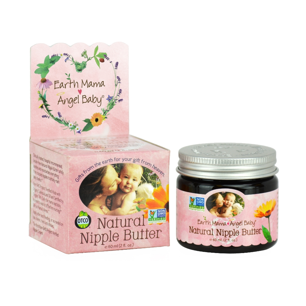 Earth Mama Organic Nipple Butter for Breastfeeding and Dry Skin (2 Fl. Oz.)
