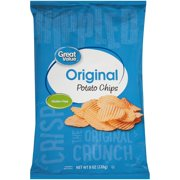 Great Value Rippled Potato Chips, 8 oz