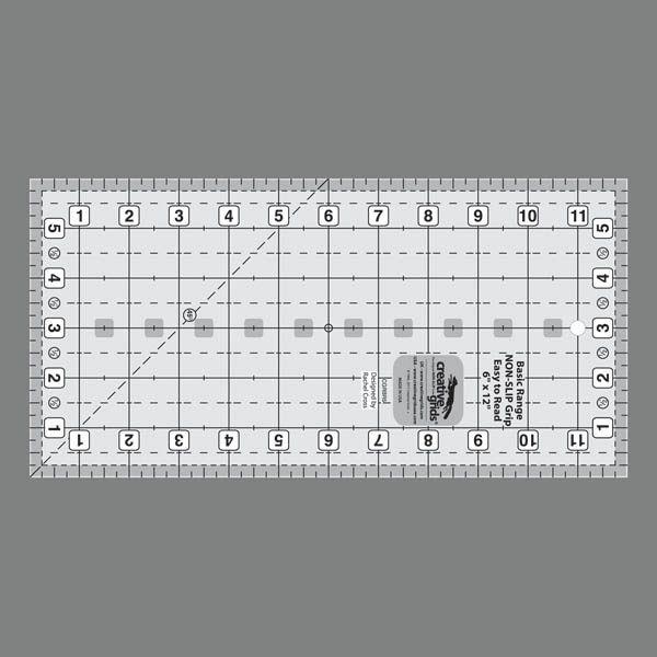 "Creative Grids Basic Range 6"" x 12"" Rectangle Ruler"