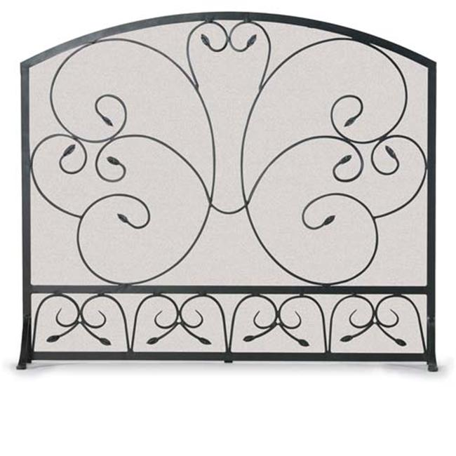 Napa Forge 19254 Single Panel Country Scroll Screen - Black
