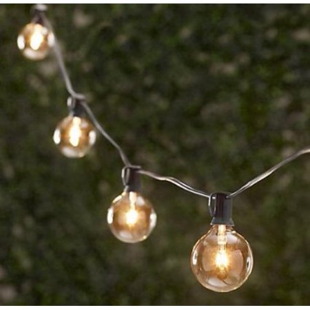 String Globe Lights Impressive Spring RoseTM 60 Clear Patio String Globe Lights With Black Cord