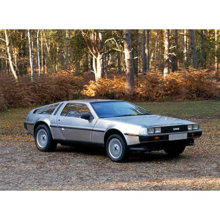 1981 De Lorean DMC-12 sports car powered by a 28 litre V6 PVR (Peugeot-Volvo-Renault) engine Features gull-wing doors Country of origin USA but was built in Northern Ireland Canvas Art - Panoramic Ima