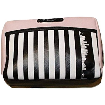 Victoria's Secret Limited Edition Striped Cosmetic Make Up Bag Beauty Travel New York Exclusive