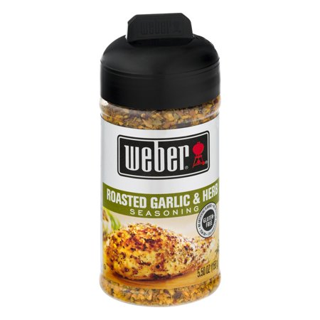 (2 Pack) Weber Roasted Garlic & Herb Seasoning, 5.5 OZ - Garlic Edamame Recipe