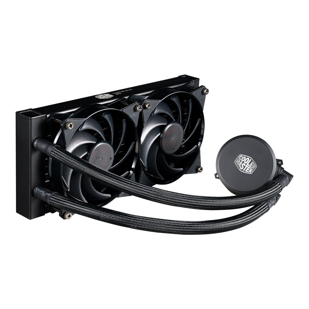 Cooler Master MasterLiquid 240 CPU Cooler, All-in-One Liquid Cooler, Dual Chamber Design, 120mm x 2 MasterFan... by Cooler Master