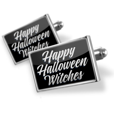 Cufflinks Classic design Happy Halloween Witches - - Halloween Cufflinks