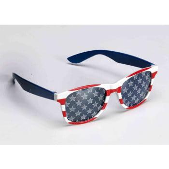 PATRIOTIC GLASSES-RED/WHT/BLUE - Patriotic Sunglasses