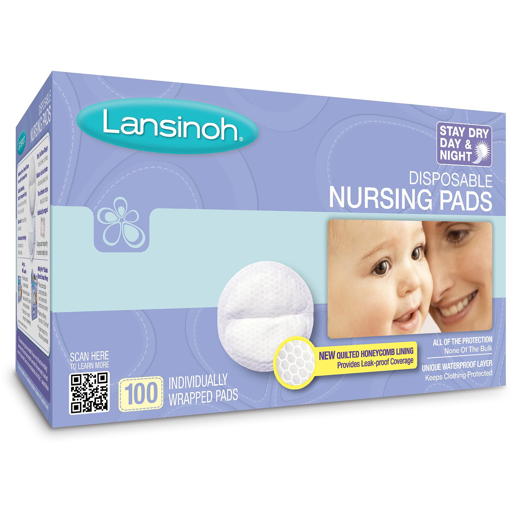 Lansinol Disposable Nursing Pads, 100 ct