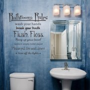 snorda Bathroom Rules Wash Vinyl Wall Home Decor Decal Quote Room Inspirational Cute
