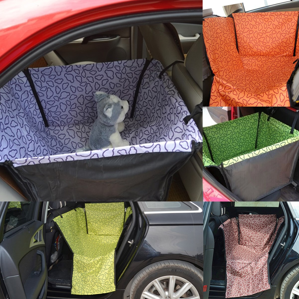 Pet Dog Cat Car Rear Back Seat Hammock Blanket Bed Safe Comfortable Waterproof Washable Crates Kennels