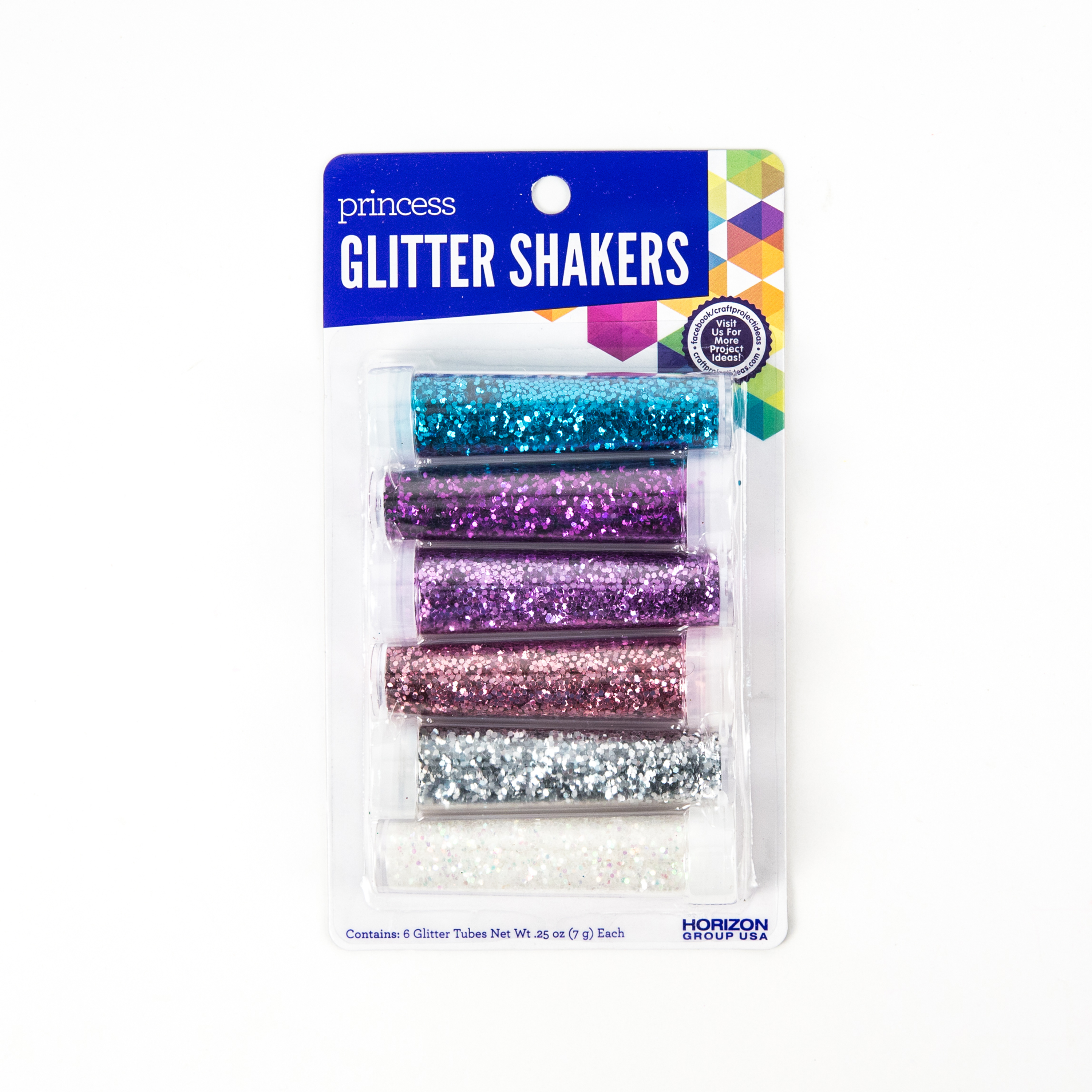 Princess Glitter Shakers, 6ct.