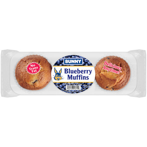Bunny Blueberry Muffins, 3 count, 9 oz