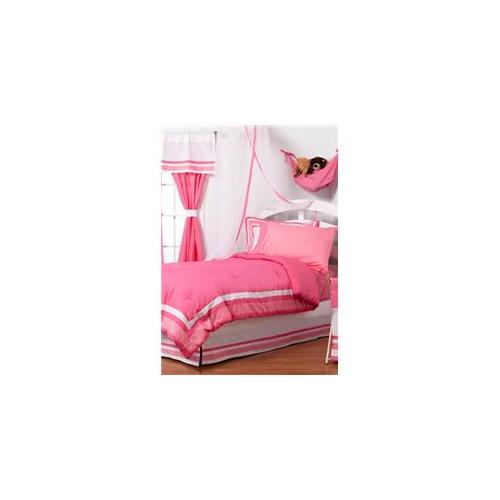 One Grace Place 10-18hp121 Simplicity Hot Pink Twin 3 Piece Bedding Set