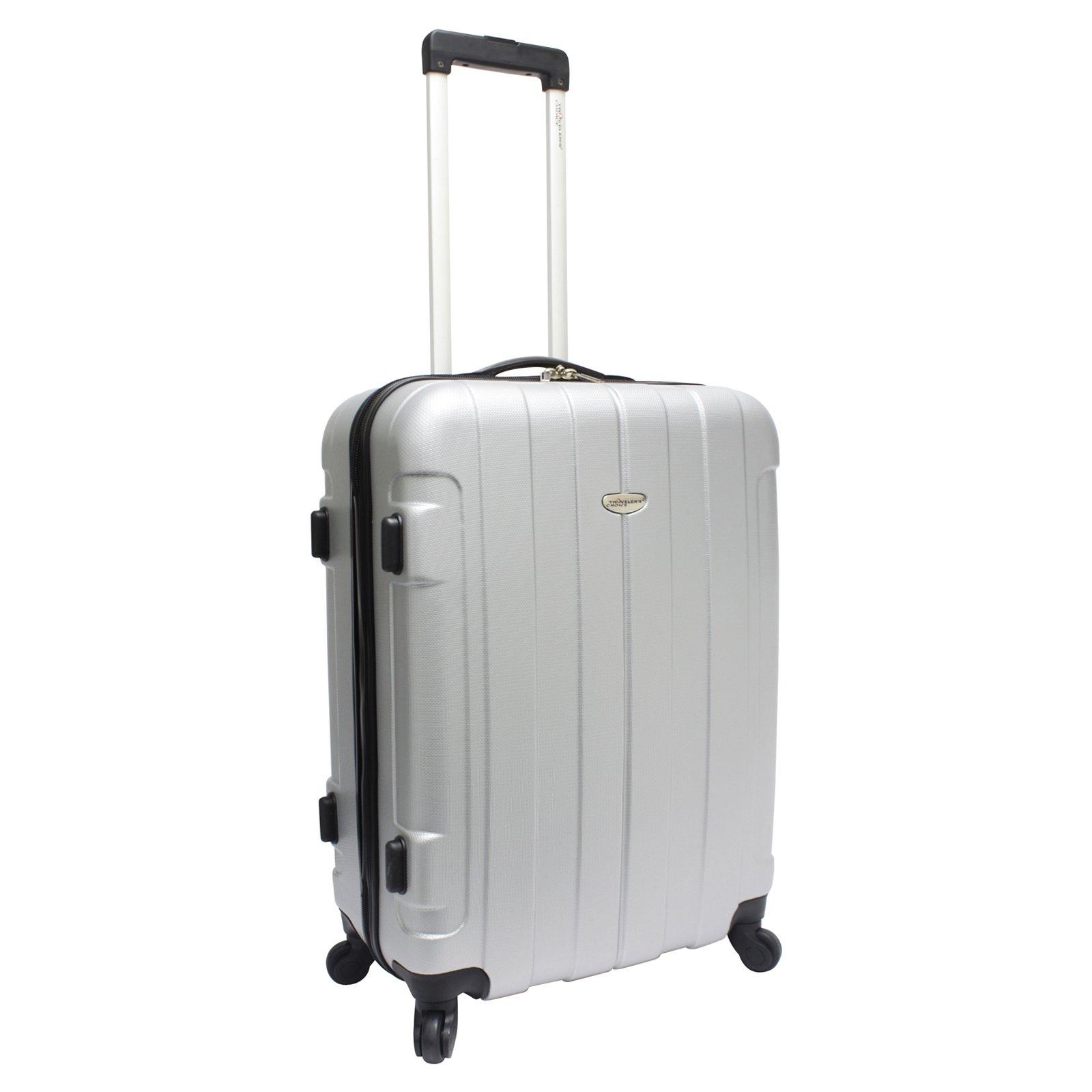Traveler's Choice Rome 21'' Hard Shell Rolling Upright Luggage