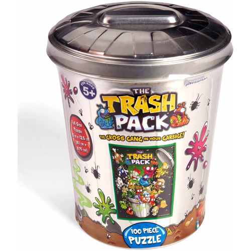 The Trash Pack, Trash Can Group Puzzle in a Garbage Tin