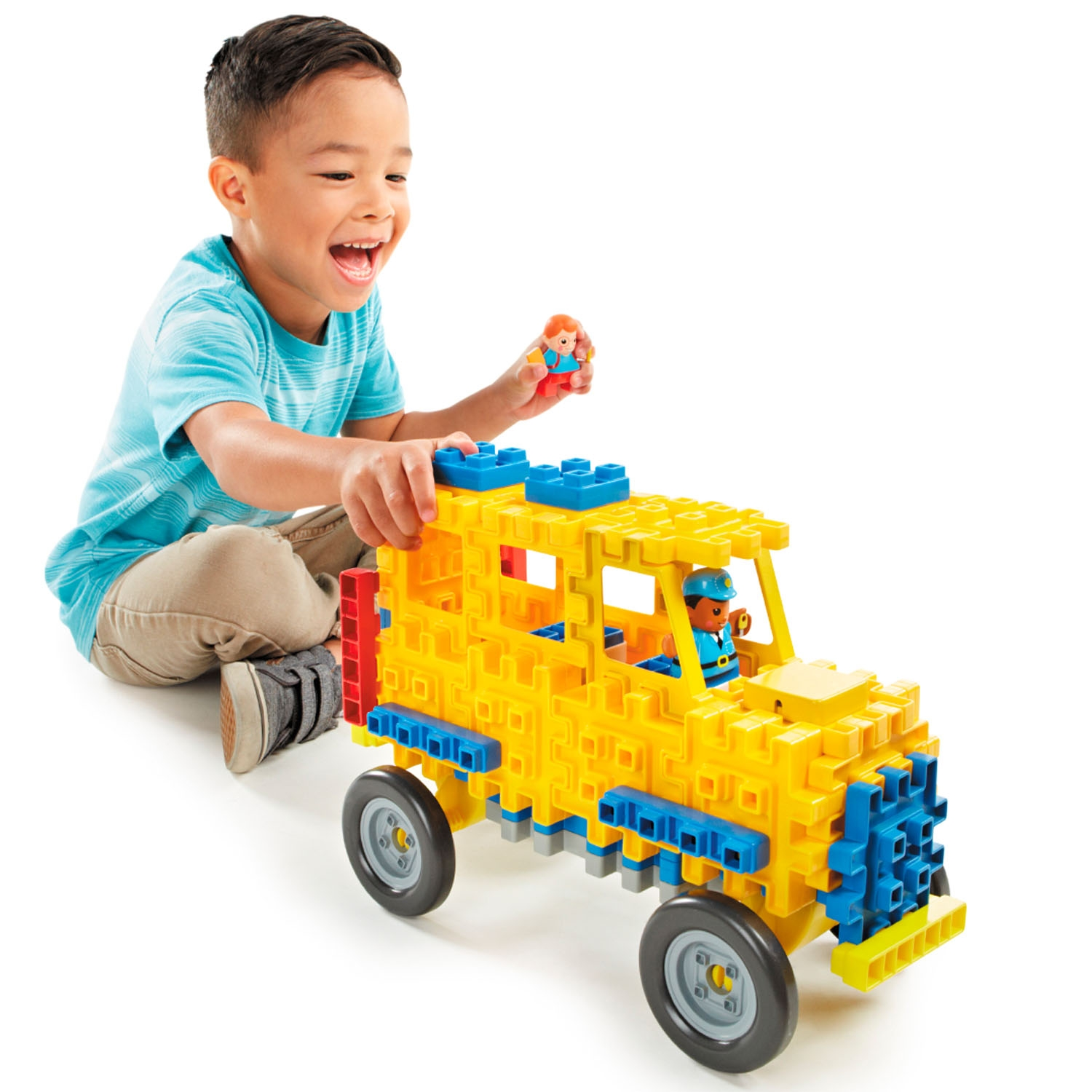 Little Tikes Waffle Blocks Vehicle- School Bus