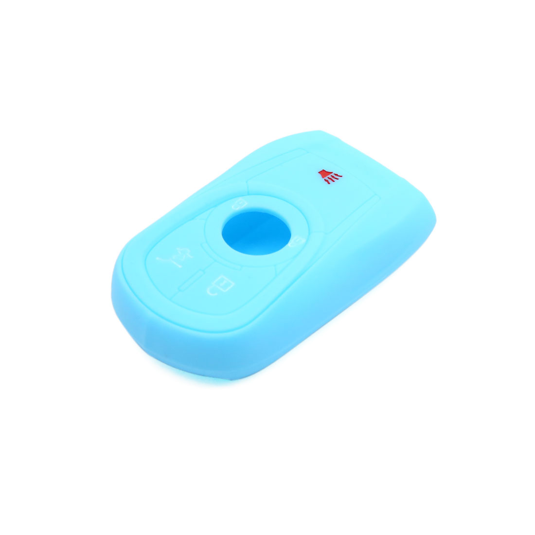 5 Button Sky Blue Car Silicone Remote Key Cover Case Fob Protector for Buick - image 2 de 4