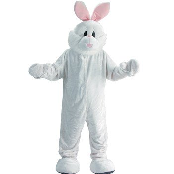 Rabbit Mascot Adult Halloween Costume - One Size - Rabbit Halloween Costume