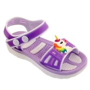 Kids Girls Sandals Clog Toddler Water Shoes for beach, pool, everyday wear, sizes 5-10 Toddler Medium.