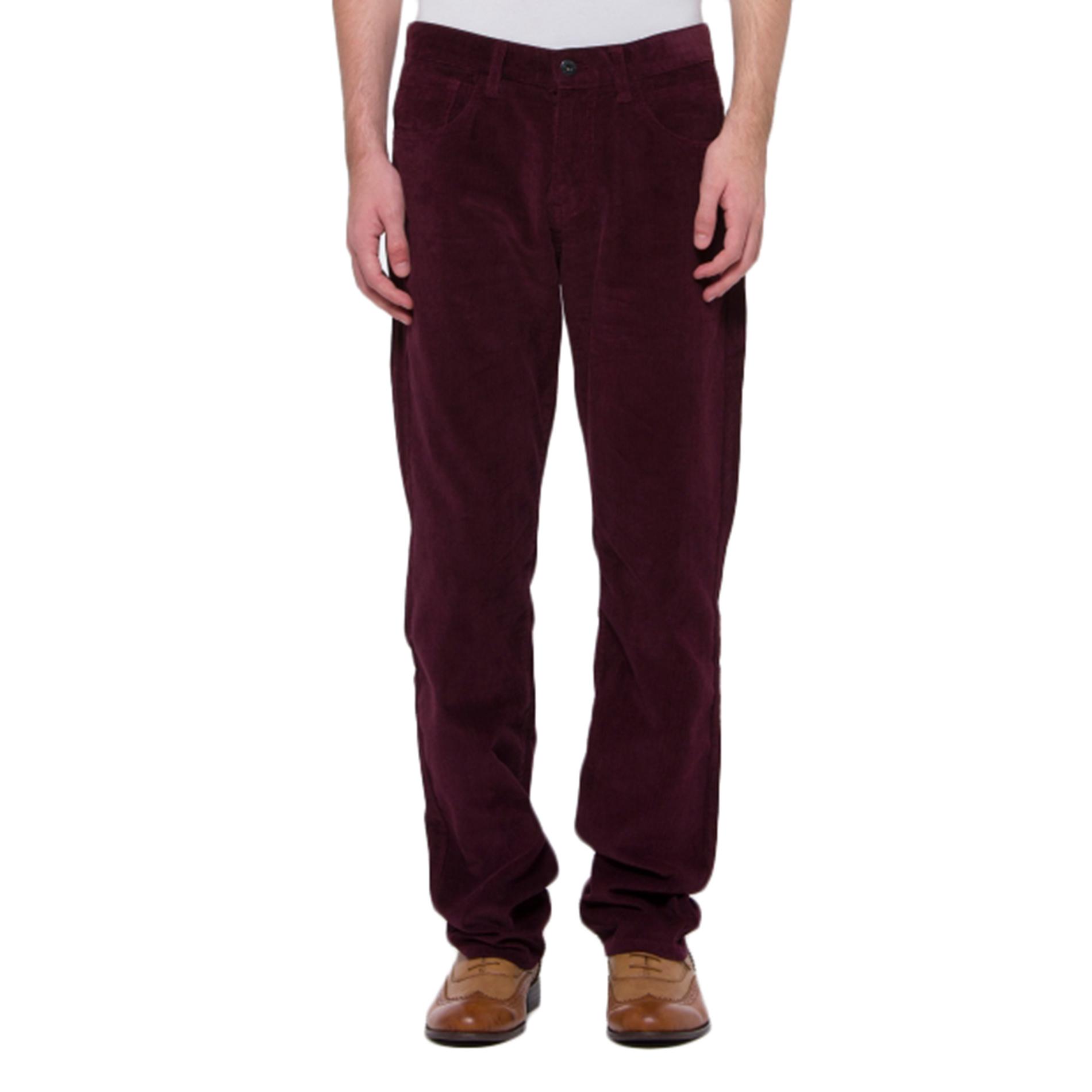 "Bossini Mens Reliable Casual Snug Slim Fit Colourful Corduroy Pants,Waist 28-40"""