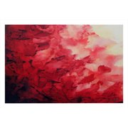 ArtWall Red Watery Abstract' by Shiela Gosselin Painting Print on Rolled Canvas