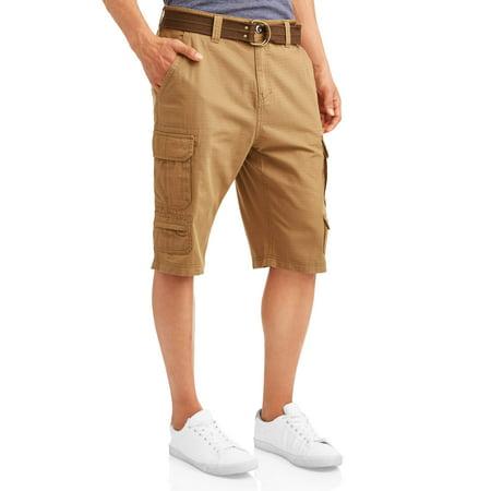 Men's Belted Ripstop Cargo Messenger Shorts