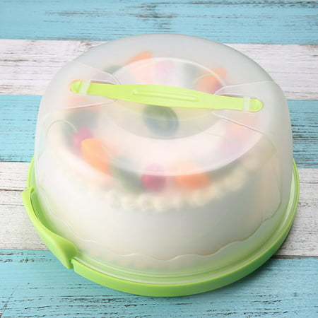 Fir Dome (12'' Portable Round Cake Carrier Storage Container With Translucent Dome and Holder Perfect for Cake Transportation, Cake Display)
