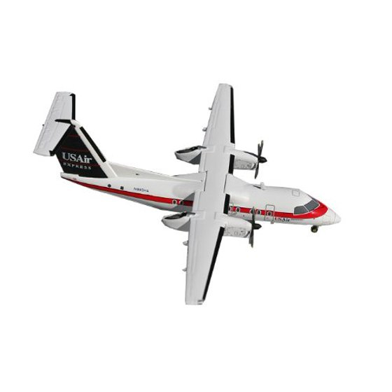 Gemini Jets 8-100 US Air Express Dash Diecast Aircraft, Old Red, White and  Blue, 1:200 Scale