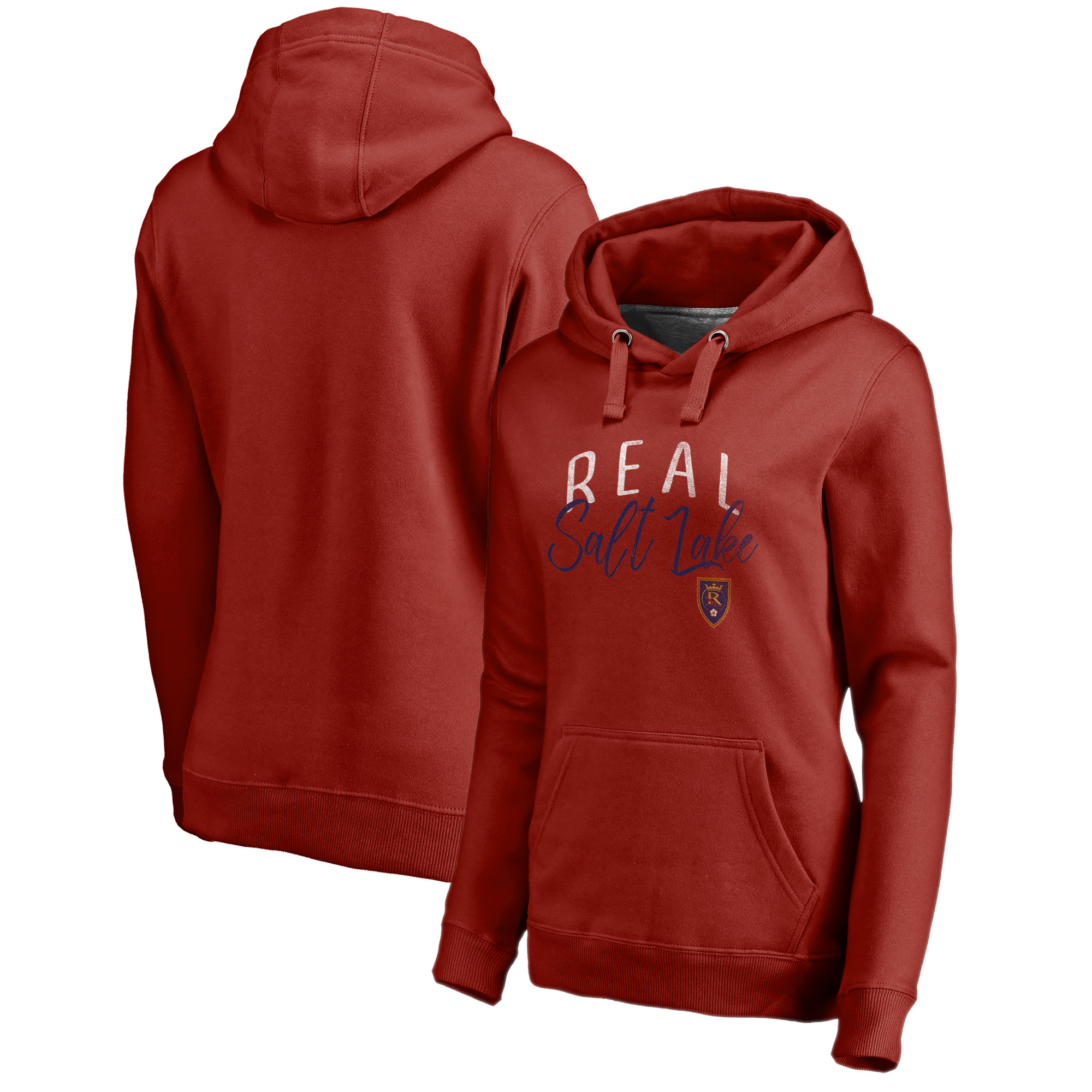 Real Salt Lake Fanatics Branded Women's Graceful Plus Size Pullover Hoodie - Red