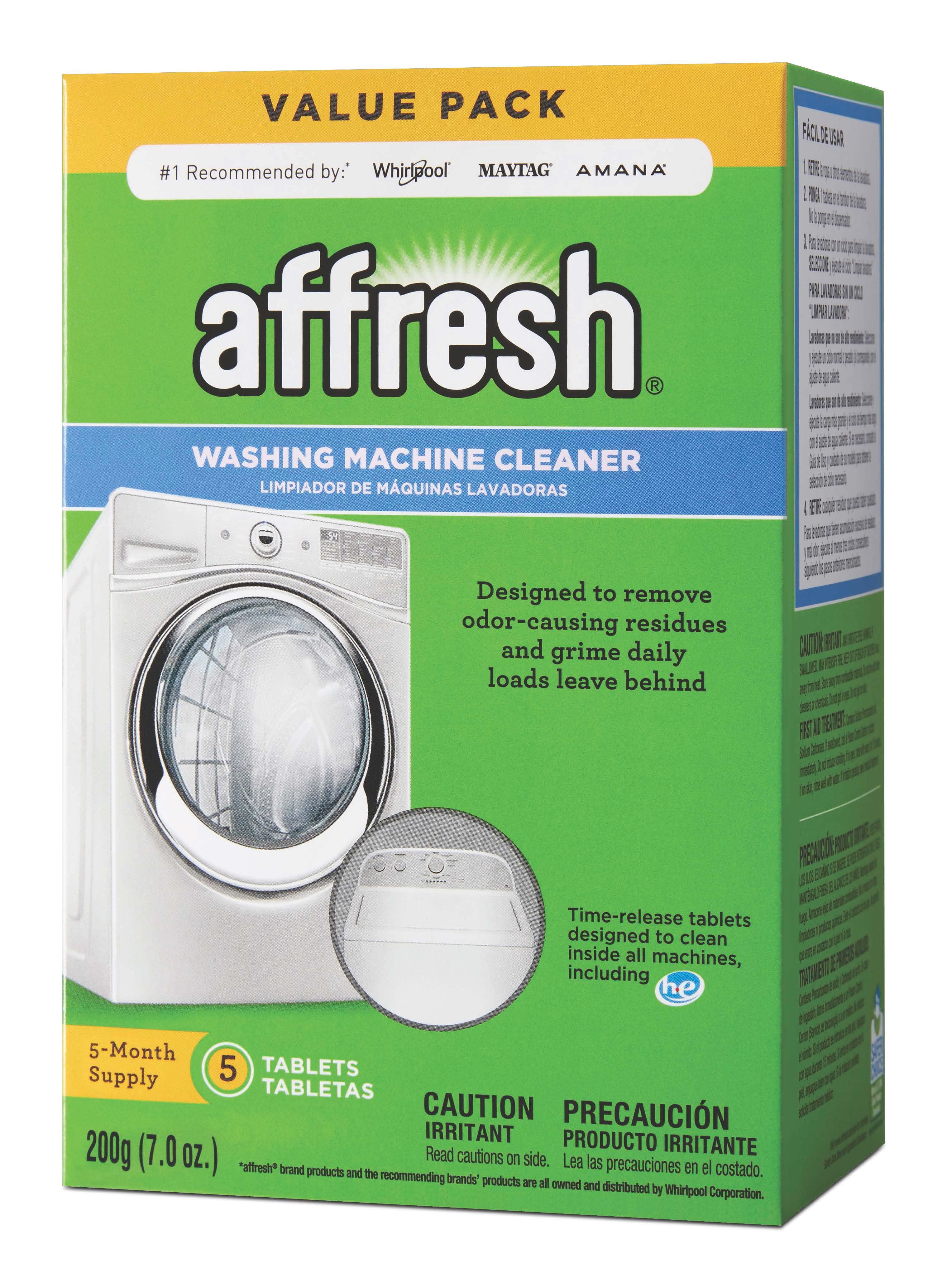 Affresh Washer Cleaner Tablets, 3 Count - Walmart com