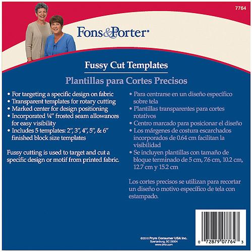 Fons & Porter Fussy Cut Templates
