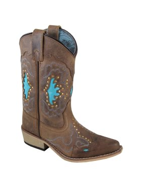 36011338a6df6 Product Image Smoky Mountain Girl's Moon Bay Brown Distress/Turquoise  Western Boots 3716
