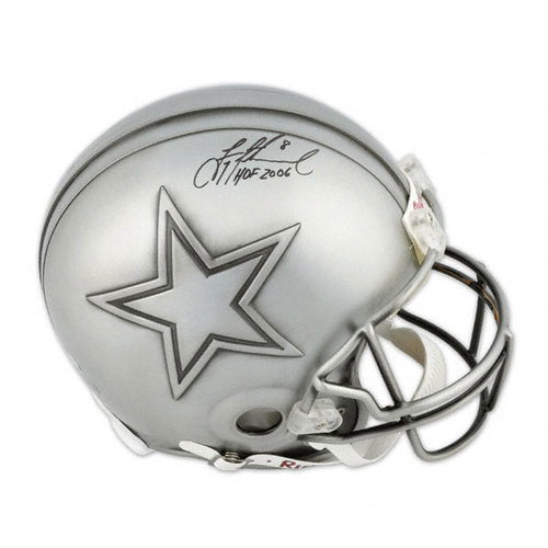 NFL - Troy Aikman Autographed Pro-Line Helmet | Details: Hall of Fame, Authentic Riddell Helmet, HOF 6 Inscription
